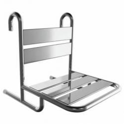Krzesełko Prysznicowe dla Niepełnosprawnych zawieszane na poręczy stal nierdz. fi25