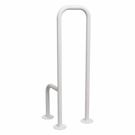 Uchwyt WC dla Niepełnosprawnych mocowany do podłogi prawy biały fi32
